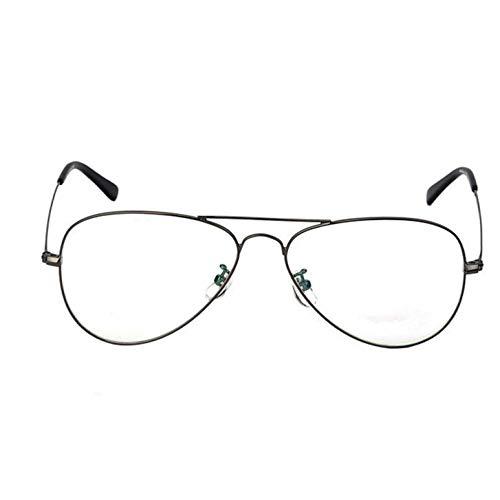 Jyuesi Alle Wolle und EIN Yard Breit Neu Fashion Classic Gold Rahmen Klar Brille Myopia Damen Herren Brillenfassung Klarglas Optisch Aviation Glas für Camping, Picknick Andere Außen Aktivitäten