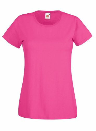 Fruit of the loom lady-fit valueweight 61–372–0 t Rose - Fuchsia