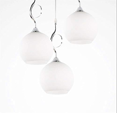 Lampadario in vetro moderno minimalista luci ristorante lampada soggiorno lampada creativa singola testa di esso tre lampadari pasti ( color : three discs )