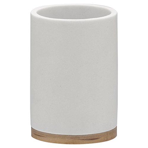 Sealskin 361910410 Becher Grace Polyresin Weiß Badaccessoire, Plastik, 7.3 x 7.3 x 10.6 cm