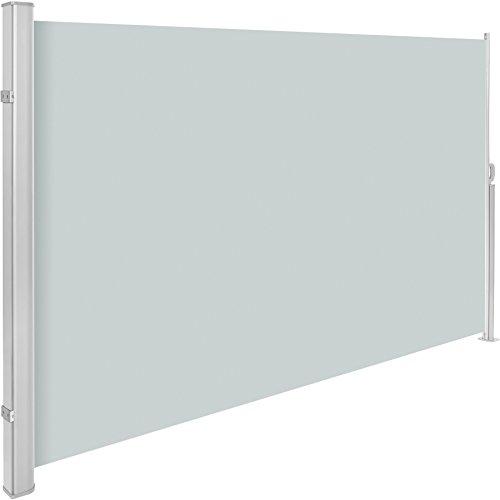 TecTake Toldo Lateral de Aluminio Separador retráctil terraza protección De Vivienda y de Base Postes Completo de Aluminio Varias tamaños - (Gris | 160x300cm | no. 401524)