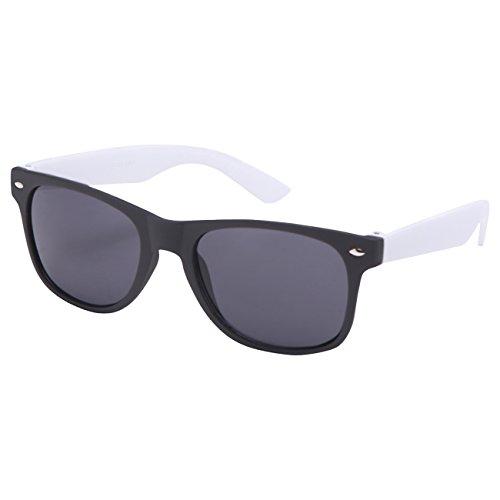 Ciffre EL-Sunprotect® Sonnenbrille Nerdbrille Brille Nerd Matt Gummiert Weiß Schwarz UV400