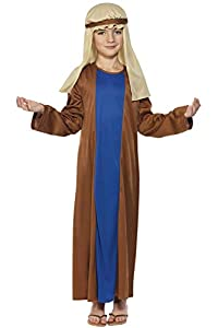 Smiffys-31287S Disfraz de José, con túnica y Adorno para la Cabeza, Color marrón, S-Edad 4-6 años (Smiffy