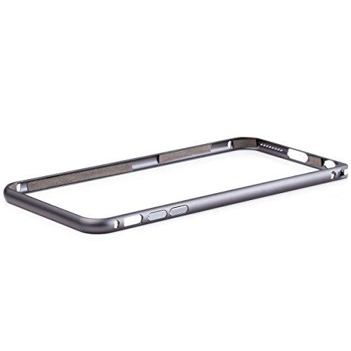 iCues Apple iPhone 6/6S + PLUS (5.5 Zoll) |  Alu Bumper Clip Gold | [Display Schutzfolie Inklusive] CNC Aluminium Metall Metallic Rahmen Case Hülle Schutzhülle Alubumper Plain Black