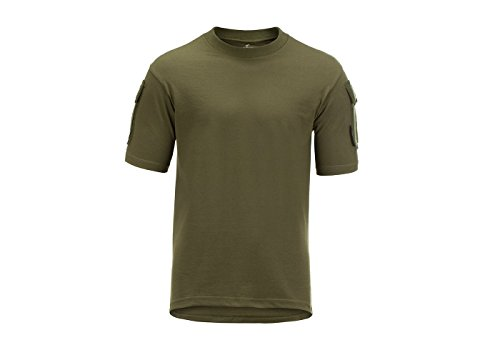 Invader Gear Tactical T-Shirt Green OD Army Style Sleeve Pocket Patch Panels -