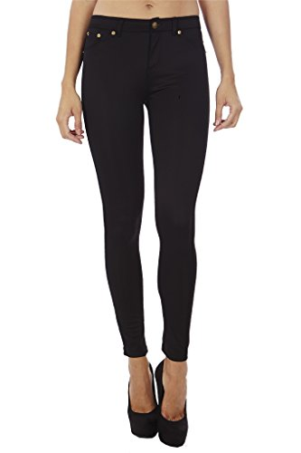 a682ad98954e5 Dinamit Jeans Women s Skinny Pants Leggings - Black -