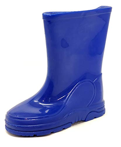 Childrens Kids Wellington Boots Rain Wellies Blue Boys Girls Mid Calf Snow Boots Size 4-13