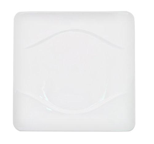 CAC China Porzellan-Teller, quadratisch, Weiß 11 1/4-Inch New bone white - China Weiße Teller, Quadratische
