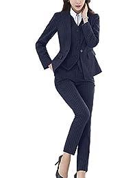 d0724e5a7d6b Women's Three Pieces Office Lady Stripe Blazer Business Suit Set Women Suits  Work Skirt/Pant