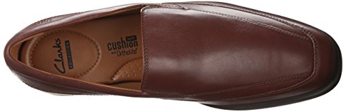 Clarks Tilden gratuit Slip-on Mocassins Brown Leather