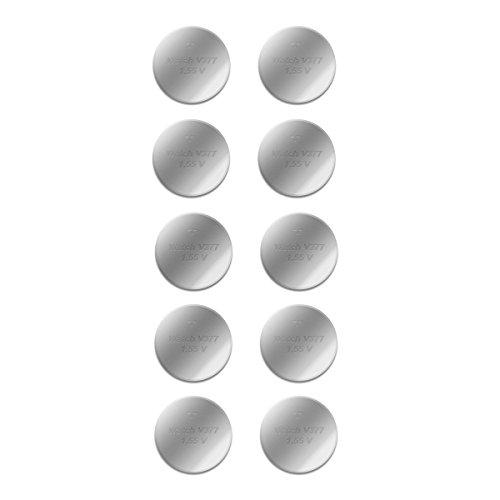 Knopfzelle SR626SW, LR626, AG4, SR 626 W, SG4 - 14mAh, 1,5 Volt - Batterien 10 Stk. - einzelne Blister - Akku-King
