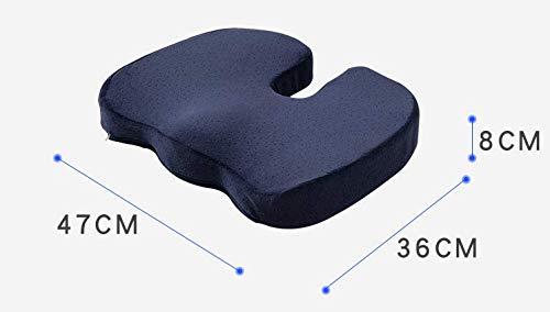JINGQD Kühler der aktualisierten Version (1,5-2 ° C) Orthopädisches Gel-Sitzkissen - Ergonomisches Design-Memory-Schaummaterial, Steißbein-Kissen für Büro, Haushalt, Auto, Rollstuhl