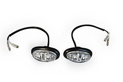 Preisvergleich Produktbild helle LED Oval Marker / Tageslicht Leuchten Motorrad Cityroller Auto ATV Flächenbündige Montage Schwarz mit klare linse