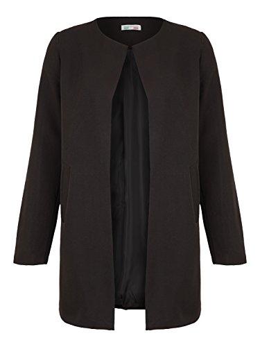 72bb81bb55f57d DANAEST Damen Mantel elegant lässiger Doppelreihiger Light Coat (639),  Farbe:Schwarz,