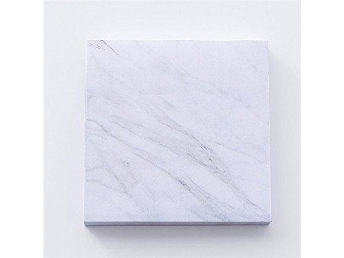 OVVO Simple Note collante de modèle de marbre pour la note de classification ou de message (blanc) OVVO