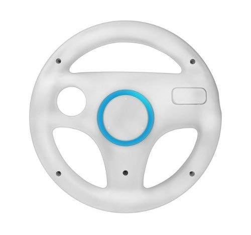 Lenkrad Racing Wheel für Nintendo Wii und Wii U Mario Kart Weiß 1 Stücke Wii Wheel Weiß