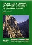 Image de Picos de Europa y costa oriental de Asturias: mapa topográfico excursionista a escala 1:80000