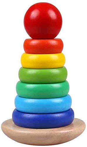 TYZXR Giocattolo educativo Toddler Bambini Anello Bambino in Legno colorato Torre impilatore Arco Giocattolo Torre per Bamb