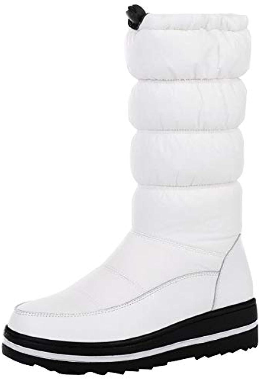 RSHENG Stivali Da Donna Le Donne Donne Donne Autunno E Inverno Scaldano Gli Stivali Piatti Di Grandi Dimensioni | Le vendite online  | Uomo/Donne Scarpa  f43ff3
