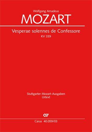 Vesperae solennes de Confessore KV 339, Klavierauszug