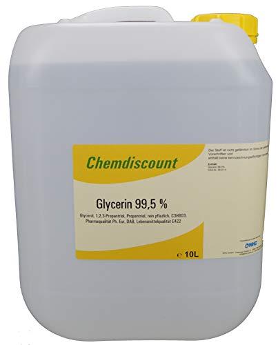 10Liter Glycerin 99,5% rein pflanzlich entpricht PH. EUR. und DAB Lebensmittelqualität E422, vegetable Glyzerin