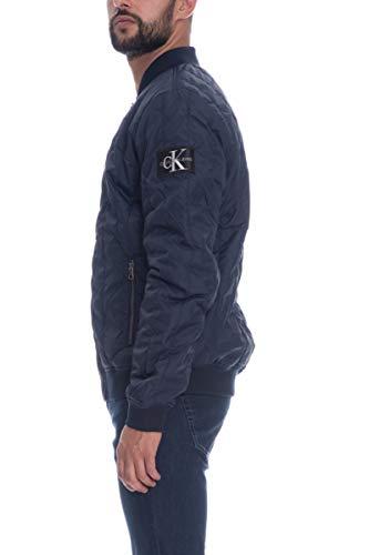 Calvin Klein Jeans Herren Gesteppte Bomberjacke, Blau, X-Large