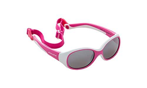 Excape Baby Sonnenbrille Mädchen - Rosa - mit elastischem Brillenband! Höchster Schutz - Österreichische Top Qualität - kaum zu zerstören dank Wundermateriel TPE Thermoplastische Elastomere!
