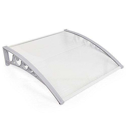 Tettoie da esterno,pensiline in policarbonato,pensiline ad arco per porta o finestra per esterno (100cm x 150cm)