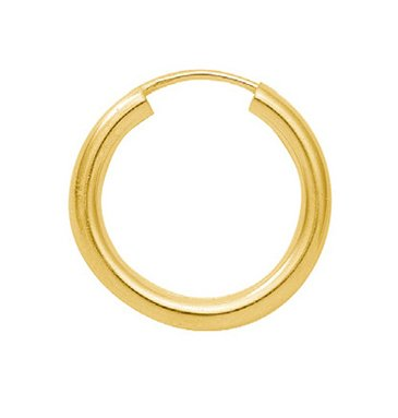 Gold 14 k ( 585 ) Ohrringe - Creolen - Ø 20 mm