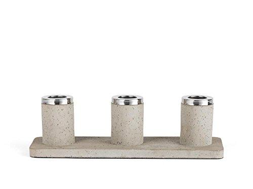 Zilverstad 8068030–Candelabro Solido, de 3focos, hormigón, Gris, 24x 7.7x 7.2cm