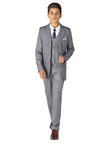 Paisley of London Jungen Anzug grau taubengrau Gr. 4 Jahre, taubengrau (Anzüge Grau Jungen)