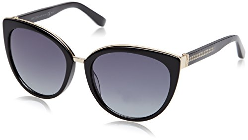 Jimmy Choo Damen Dana/S HD 10E 56 Sonnenbrille, Schwarz Shaded Black/Grey Sf