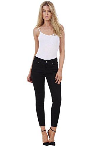ex UK Store Ladies Skinny Crop Ankle Grazers Frayed Rip Ripped Zip Denim Stretch Jeans RRP 163;45