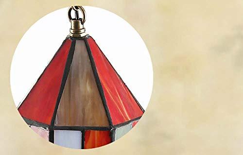 Lampadario in stile Tiffany lampada a sospensione in vetro colore europeo lampade a sospensione villa bar tavolo bar ristorante lampada a soffitto retrò decorativo lampada a sospensione