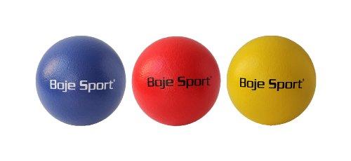 3x Softball mit Elefantenhaut Ø ca. 16 cm je gelb,blau,rot (Rote Schaumstoff-ball)