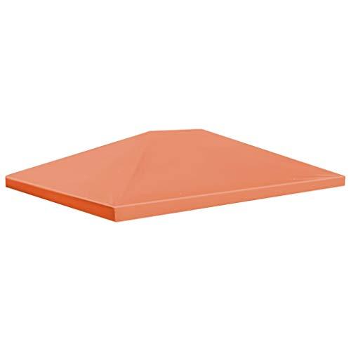 vidaXL Toile Supérieure de Belvédère 310 g/m² 4x3 m Orange Tonelle Pavillon
