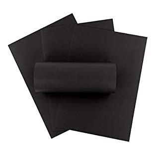 ZADAWERK® Tonkarton - 230 g/m² - DIN A3 - Schwarz - 50 Stück - basteln - Kinder