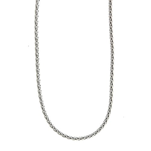 14ct weiß gold Weizen 3,1mm hochglanz Kette Karabinerverschluss Armband–20cm