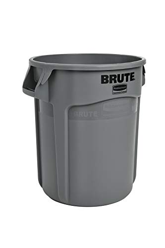 Rubbermaid FG261000GRAY-001 Brute Round Container, 37.9 L, Grey (Rubbermaid Brute Abfalleimer)