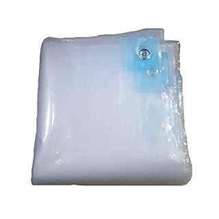 Zfggd Plastic Tarpaulin Thick Transparent Double-sided Waterproof Rainproof Insulation Dustproof PE Balcony Window Tarp (Color : Clear, Size : 6×10m)