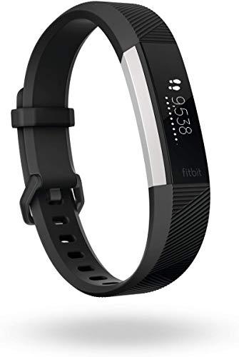 Fitbit Alta HR Armband zur Herzfrequenz- und Fitnessaufzeichnung, Schwarz, L