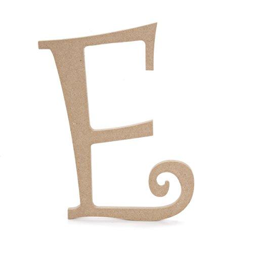 Darice MDF Fancy Script Buchstabe E (Holz Aus Buchstaben Darice)