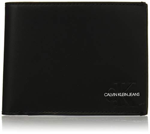 Billfold Coin Wallet (Calvin Klein Herren Monogram Billfold W Coin Geldbörse, Schwarz (Black), 3x9.5x13 cm)