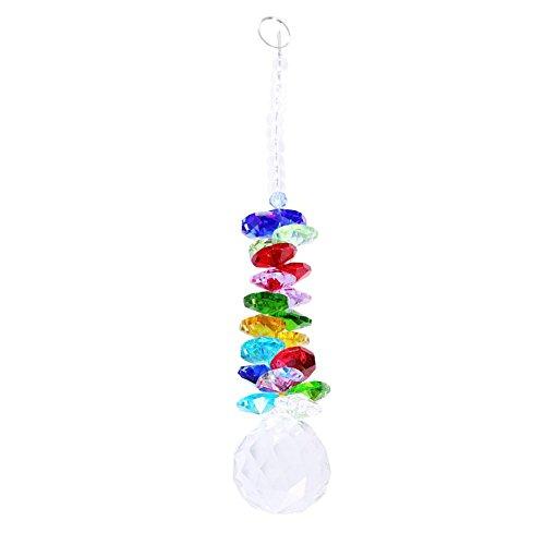 Colgante de cristal, Colgante de cristal de la bola, 22 piezas Rainbow