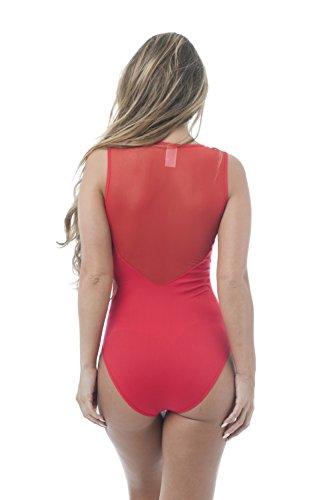Hollywood Star Fashion Damen Kleid Rot