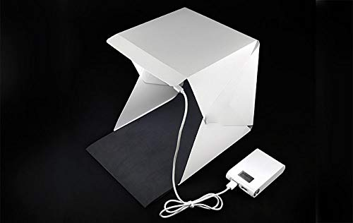 Mini Photo Studio Box, Portable Photography Shooting Light Tent Kit LED Foldable Studio Lightbox Softbox Photo Lighting Kit LED Photo Studio Light Cube Tent, Für Das Produktdisplay Light Box Softbox