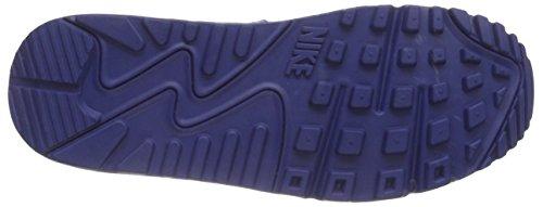 Nike Air Max 90 Premium LTR (GS), Jungen Sneakers Mehrfarbig (Metalic Hmt/Metalic Gold-Lite Photo Blue)