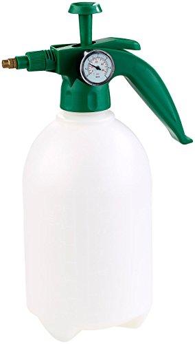 PEARL Sprüher: Universal-Pump-Drucksprüher mit Manometer, lösungsmittelfest, 2 l (Sprühflasche Zerstäuber)