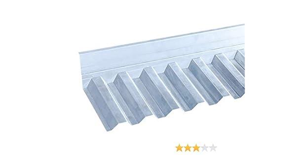 Maueranschluss f/ür Wellplatten PVC Trapez 70//18 Wandanschluss Profilplatten Lichtplatten