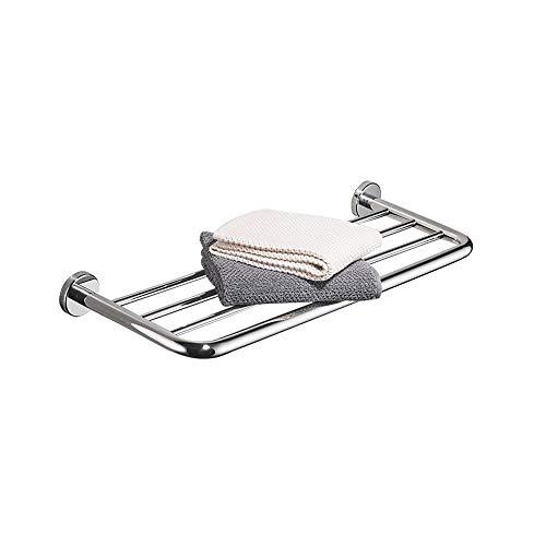 Agaidu 304 Edelstahl Handtuchhalter Bad Einschicht Handtuchhalter Wandbehang Handtuchhalter Rostschutz Handtuchhalter Duschablage Hotel Handtuchhalter ( Size : 60cm ) -